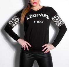 KouCla Leopard Pullover schwarz
