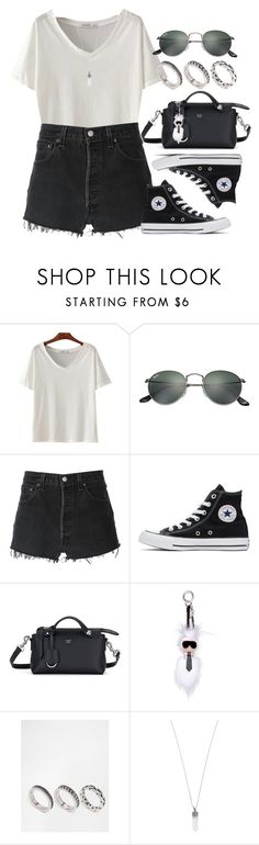 """""""Sin título #12698"""" by vany-alvarado ❤ liked on Polyvore featuring Ray-Ban, RE/DONE, Converse, Fendi, ASOS and Marc Jacobs"""