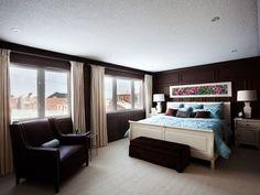 Bedroom Decoration Ideas:  dark walls