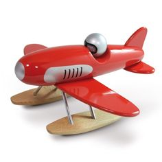 Speelgoed Seaplane - hydroavion wooden toy handmade by Vilac via - Dishmon Wood Products