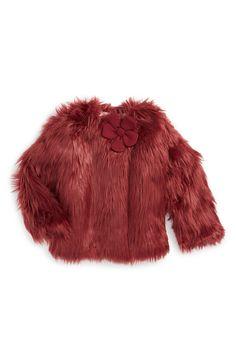 Margherita Faux Fur Jacket (Toddler Girls, Little Girls & Big Girls)