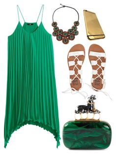 """""""Pleats"""" by cherieaustin ❤ liked on Polyvore featuring H&M, NOVICA, Alexander McQueen and Billabong"""