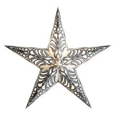 Geeta White Gold star pendant light, $34.50, now featured on Fab.