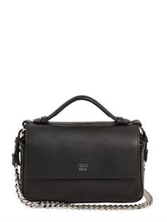 fendi - женщины - сумки на ремне - двойная кожаная сумка-багет