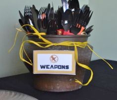 "Hunger Games Weapons | 30: Hunger Games Books/Movies / Movie Night ""1st Annual Hunger Games ..."