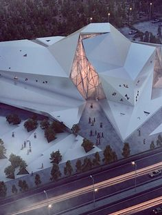This Rock Climbing Gym Resembles A Big Rock Rock Gym Polur Iran New Wave Architecture Designs Model Architecture, Architecture Design Concept, Folding Architecture, Cultural Architecture, Futuristic Architecture, Contemporary Architecture, Interior Architecture, Renzo Piano, Rock Climbing Gym