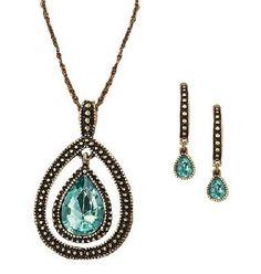 Blissful Blues Drop Pendant Gift Set-AVON  $14.50
