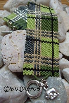 The wearing o' the plaid! Green Plaid by Hungarian artist Beatrix (Pixie Pearl).