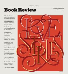 """Love Stories"" by @jessicahische for the @nytimes Book Review Feb 2014. #ValentinesThatDontSuck"