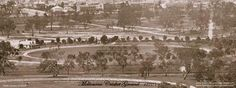Melbourne Cricket Ground C 1870 state library photo Melbourne Victoria, Victoria Australia, Australian Continent, Melbourne Australia, Brisbane, Largest Countries, New City, Best Cities, Tasmania