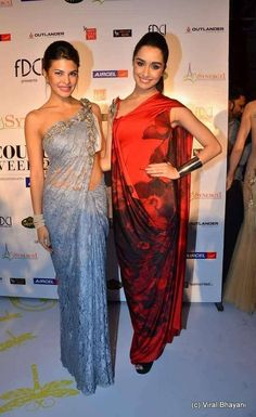 Jacqueline Fernandez n Shraddha Kapoor Bollywood Girls, Bollywood Saree, Bollywood Fashion, Bollywood Theme, Indian Celebrities, Bollywood Celebrities, Bollywood Actors, Indian Wedding Outfits, Indian Outfits