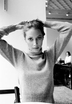 14 Iconic Sweater Weather Babes: From Karlie Kloss to Charlotte Rampling – Vogue - Christy Turlington