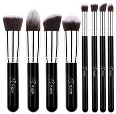 Makeup Brushes 8 Piece Premium Synthetic Brush Set Cosmetic Blush Concealer Kit…