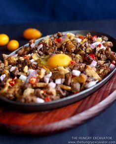 The Hungry Excavator: Sizzling Pork Sisig Recipe Filipino Appetizers, Filipino Dishes, Filipino Recipes, Asian Recipes, Filipino Food, Pinoy Food, Pinoy Recipe, Filipino Desserts, Ethnic Recipes