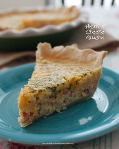 Ham and Cheese Quiche is easy to make, great for brunch, lunch or a light dinner. A great way to use up leftovers.