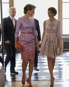 Mauricio Macri y Juliana Awada, en el palacio con los Reyes de Bélgica. Foto: EFE/Olivier Hoslet
