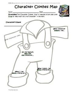 FREE Graphic Organizer aligned to Common Core Reading (Character Clothes Map!)