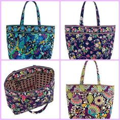 Vera Bradley Grand Tote NWT in 5 color choices. Starting at $39