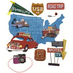 Travel & Vacation > Road Trip Sign Stickers - Jolee's Boutique: A Cherry On Top
