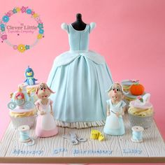 Cinderella Dress Cake by The Clever Little Cupcake Company
