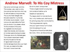 Essay about andrew marvell
