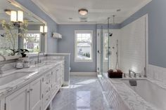 8 DIY Ways to Redo Your Bathroom (Without Remodeling) View these quick bathroom remodel ideas and make over your bathroom in a matter of minutes with these quick fixes that work for every budget. Bathroom Renos, White Bathroom, Bathroom Renovations, Small Bathroom, Bathroom Ideas, Master Bathrooms, Bathroom Makeovers, Bathroom Windows, Bathroom Images