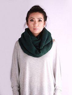 knit cowl circle scarf Double Wrap Scarf knit by GoKnitsDotCom
