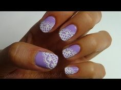 Lacey Lilac Nail Art - YouTube