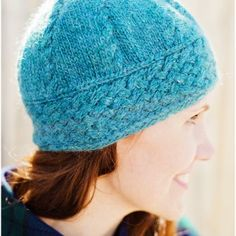 The cable braid along the brim of this hat is fun to knit and produces gorgeous results. An I-cord trim finishes off the edging with a crisp, neat border. #desertrosefiberarts