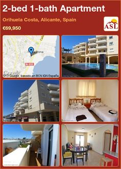 2-bed 1-bath Apartment in Orihuela Costa, Alicante, Spain ►€69,950 #PropertyForSaleInSpain