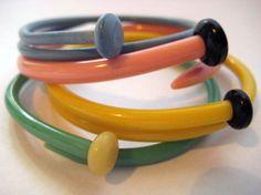 Vintage Knitting Needle Bracelets/ Bangles