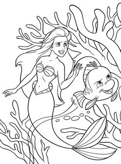 disprinc3gif 548746 mermaid coloringlisa