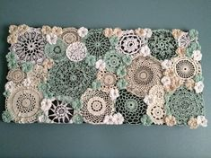 """Extra large mint doily canvas by PCWCrochet on Etsy Extra large mint doily canvas by PCWCrochet on Etsy <!-- Begin Yuzo --><!-- without result -->Related Post """"Do All Things with Love"""" – Stun. Doilies Crafts, Lace Doilies, Crochet Doilies, Crochet Wall Art, Crochet Home, Crochet Projects, Sewing Projects, Doily Art, Crochet Vintage"""
