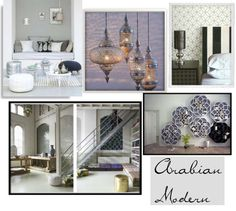 """Arabian Modern Interior Design"" by christenjune ❤ liked on Polyvore"