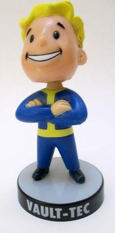 Fallout 3 Collector Edition Vault-Tec Pip Boy Blonde Bobble Head 2008 #BethesdaSoftworks