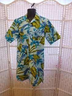 Blue Hawaii for Bob Hope. Nightshirt.  Oversized Man's Hawaiian by TechnicolorDreamwear, £60.00