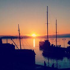 Sunset Oslo☺ Oslo, Sailing Ships, Boat, Sunset, Nature, Dinghy, Boats, Sunsets, Sailboat