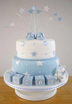 Stars baby boy cake
