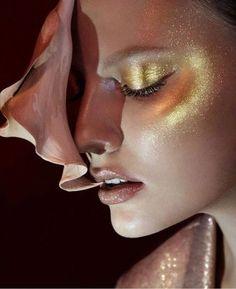 54 Ideas for makeup ideas creative pat mcgrath Makeup Inspo, Makeup Inspiration, Beauty Makeup, Eye Makeup, Makeup Ideas, Disco Makeup, Glitter Makeup, Gold Glitter, Pat Mcgrath Makeup