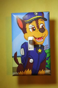 Paw Patrol Chase Light Switch Cover Plate room decor kids girls boys room decor
