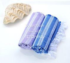 Fouta Towel Set of 2 Turkish Bath Towel Beach by DowntownIstanbul, $21.99