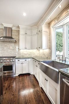 Best White Kitchen Cabinets For Your Kitchen. Below are the White Kitchen Cabinets For Your Kitchen. This post about White Kitchen Cabinets For Your Kitchen was posted  Farmhouse Kitchen Cabinets, Modern Farmhouse Kitchens, Kitchen Cabinet Design, Rustic Kitchen, Cool Kitchens, Farmhouse Sinks, Farmhouse Style, Wooden Kitchen, Rustic Farmhouse