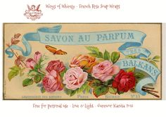 Wings of Whimsy - French Rose Soap Wraps
