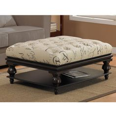 Tufted Signature Ottoman | Overstock.com Shopping - The Best Deals on Ottomans