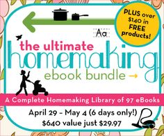 Important: Last Day and Final Chance for the Homemaking eBook Bundle - www.thebettermom.com (NOT a bad link)