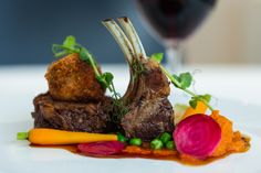 Lamb Rack dish at The Regent Room Lamb, Dishes, Boutique, Luxury, Room, Plate, Rooms, Tableware, Cutlery