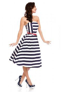 Dolly & Dotty Strapless Lana Stripes Kleid kaufen - Lucky Lola