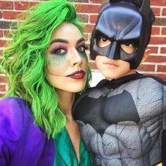 20 Creative Mother-Son Halloween Costume Ideas   CafeMom Batman Halloween Costume, First Halloween Costumes, Mom Costumes, Halloween Kids, Costume Ideas, Batman Costume For Boys, Disney Family Costumes, Little Boy Costumes, Children Costumes