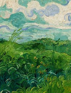 Green Wheat Field Vincent Van Gogh 1890 Archival Quality Art Print for sale online   eBay