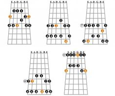 Guitar Chords And Scales, Guitar Chords Beginner, Music Chords, Guitar Exercises, Pentatonic Scale, Major Scale, Ukelele, Music Ed, Music Theory